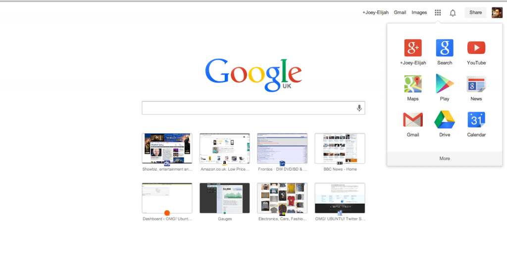 Chrome tab
