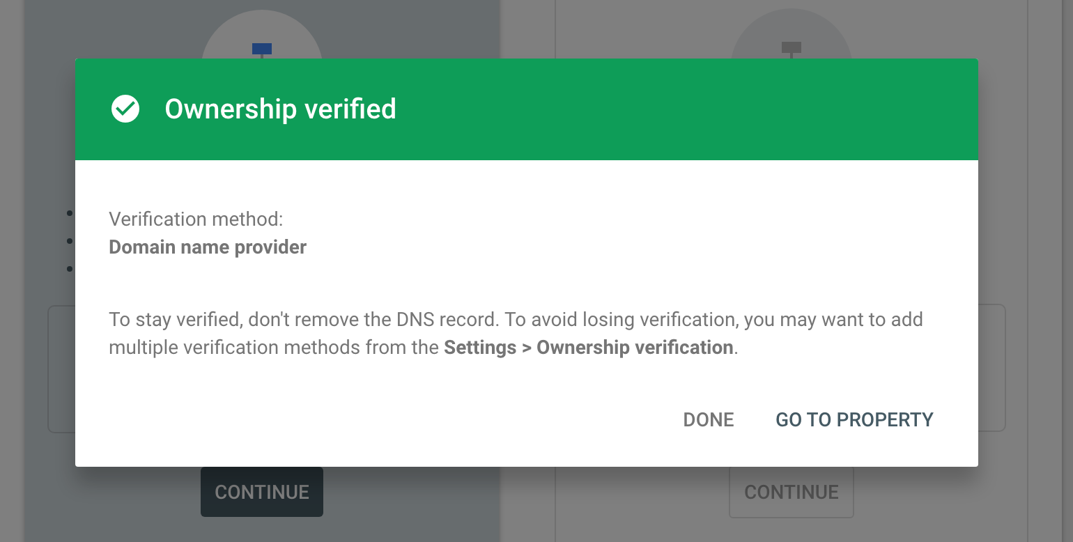 How to verify domain ownership on google search console